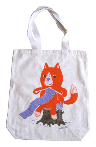 Knitting Fox by Stupid Potato