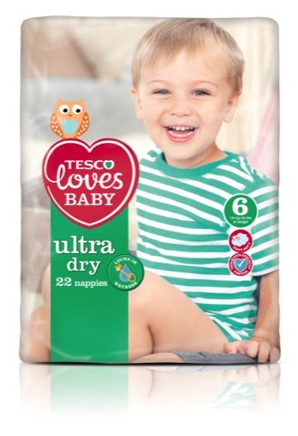 Ultra Dry nappy packaging