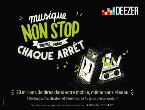 One of the ads to be used on the Paris Metro