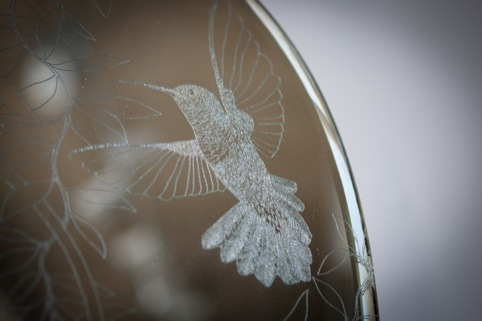 Daniel Heath's hummingbird engraving