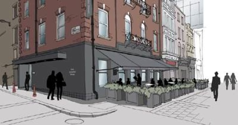 One Leicester Street exterior sketch