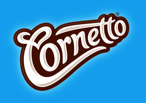 The new Cornetto logo designed by Carter Wong