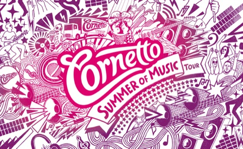 Cornetto Summer of Music illustration by Billie Jean