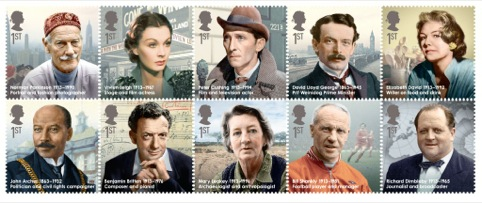 Great Britons stamps full set.