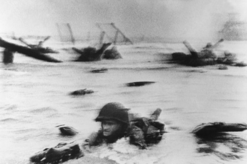 Landing of the American troops on Omaha Beach, Normandy, June 6th 1944