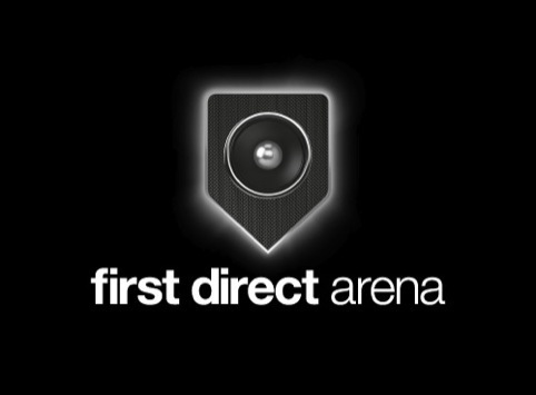 The First Direct Arena identity designed by The Allotment