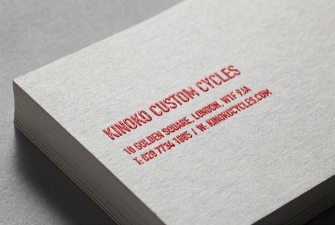 Business cards, with thermographic printing