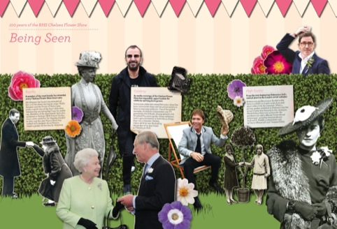 Cog's panels mark 100 years of the Chelsea Flower Show