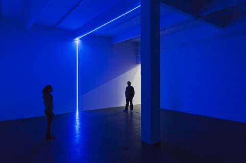 Haroon Mirza, exhibition view of Digital Switchover, 2012