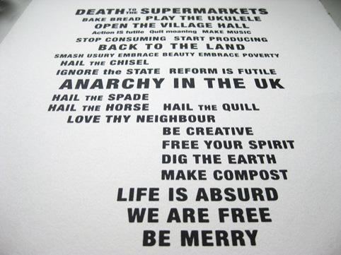 Idler Academy Manifesto print