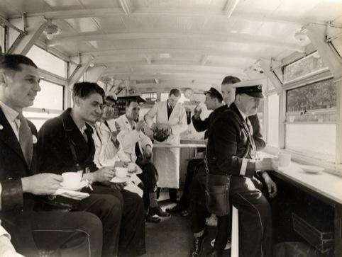 Interior of a 1937 TfL mobile canteen
