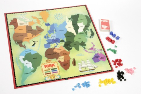 Prototype sample of the board game Risk, 1980 Parker Brothers France, 1980 © Victoria Albert Museum