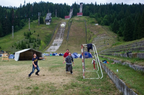 The Igman Olympic ski jumps in Sarajevo