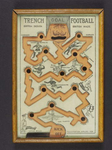 Trench football England, 1914-18 © Victoria Albert Museum