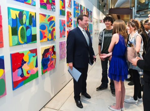 Culture Minister Ed Vaizey at last year's Summer Show