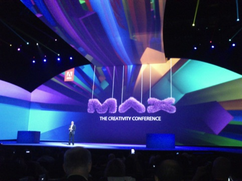 The MAX identity for Adobe, designed by Walsh