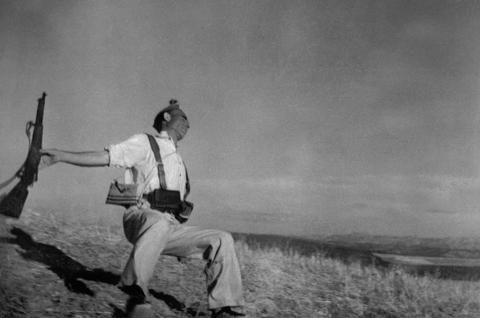 Death of a loyalist militiaman, Spain, September 1936