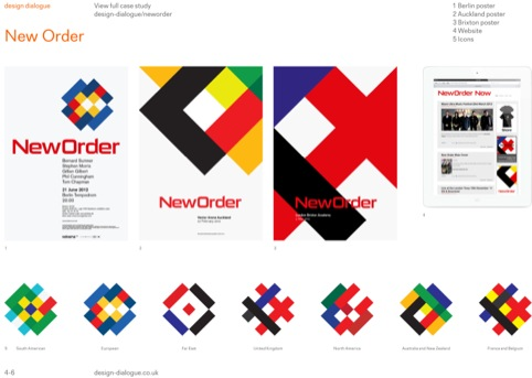 New Order tour posters by Studio Parris Wakefield