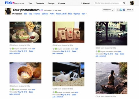 Flickr's previous photostream design