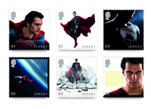 The set of Superman stamps