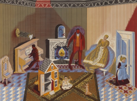Edward Bawden, The Dolls at Home, 1947