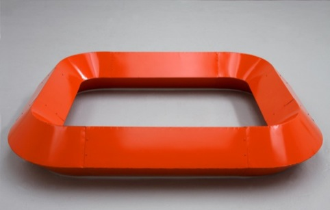 Untitled, July 6, 1964 Light cadmium red enamel on galvanized iron