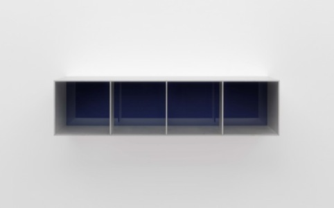 Untitled (Menziken 88-92), 1988 Anodized aluminum clear with blue Plexiglas