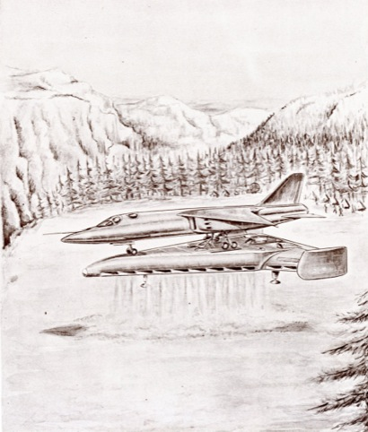 The fighter jet take-off platform, which would allow aircraft to operate from small forest clearings