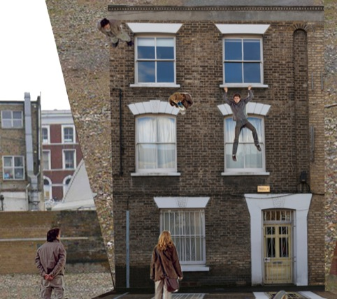 Leandro Erlich, Study for Dalston House installation 2013