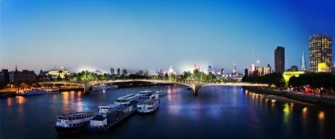 Impression view toward Waterloo Bridge by Thomas Heaterwick Studio