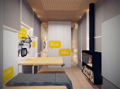 The pod's interior