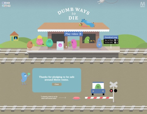 Dumb Ways to Die for Metro Trains by McCann Erickson Melbourne (Integrated and Earned Campaigns)