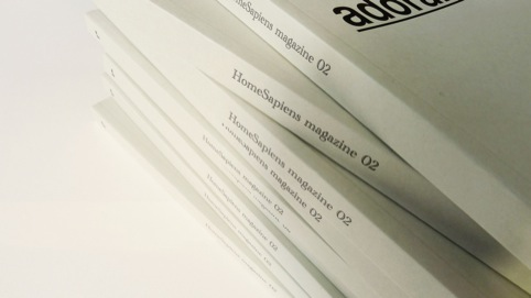 A stack of HomeSapien magazines