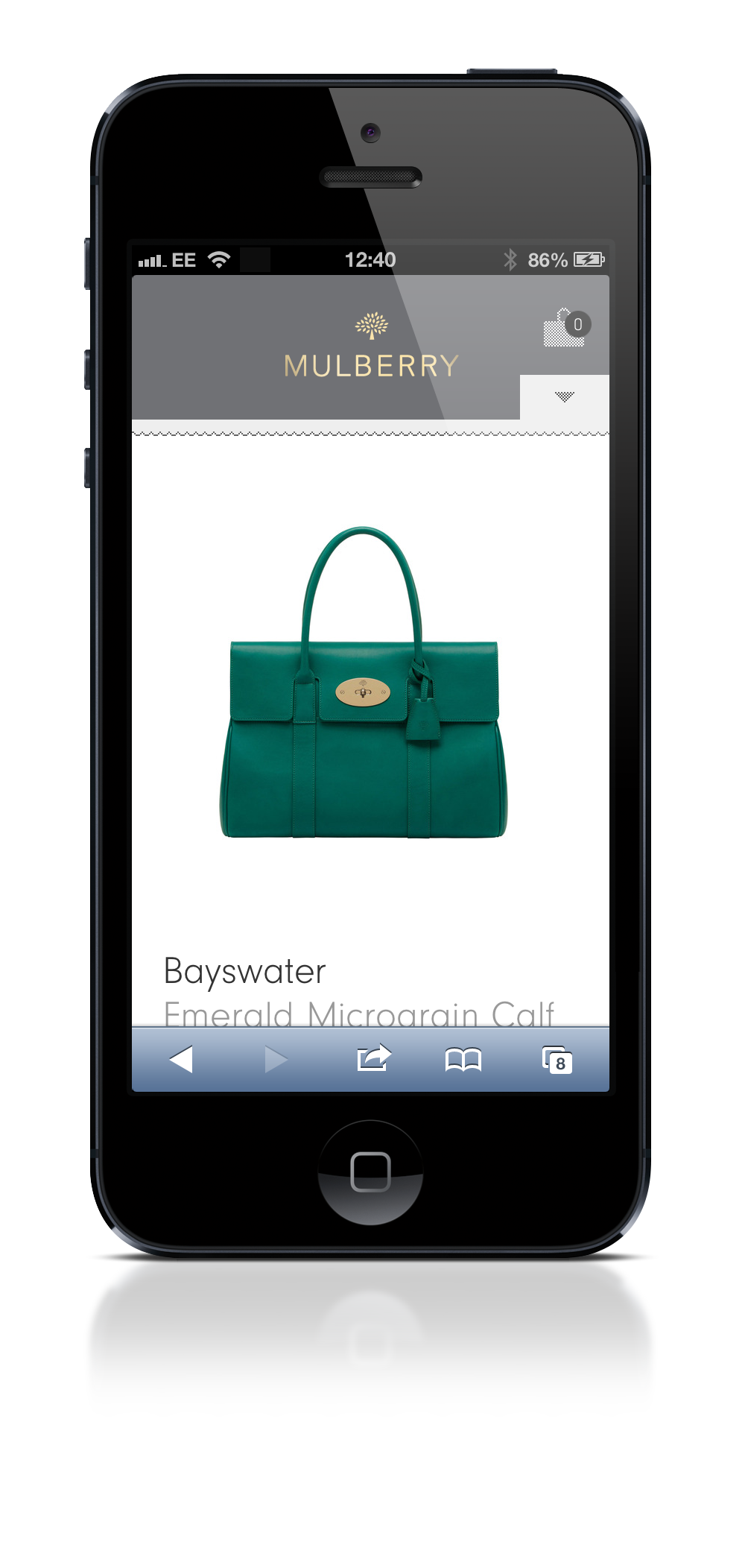 Product on mobile site