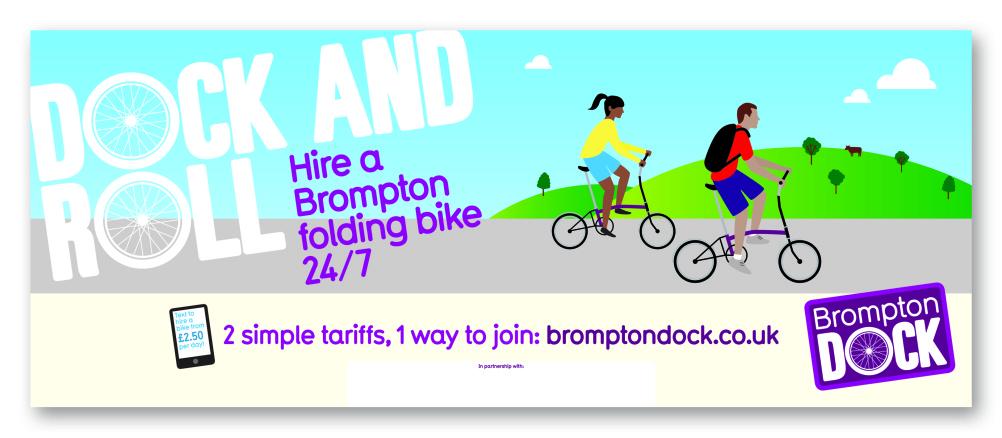 Brompton Dock street banner