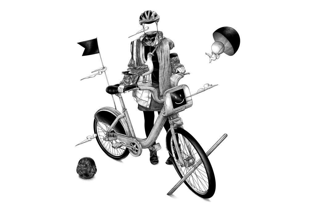 Bike Borrower, by Ugo Gattoni
