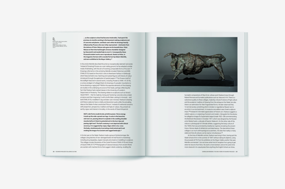 Eduardo Paolozzi: Collaging Culture book spread