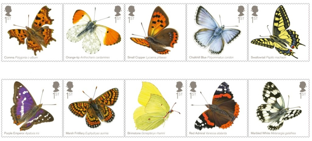 Butterflies Stamps full set