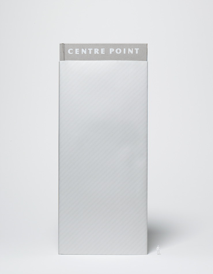 The limited-edition Centre Point book, designed to look like the building