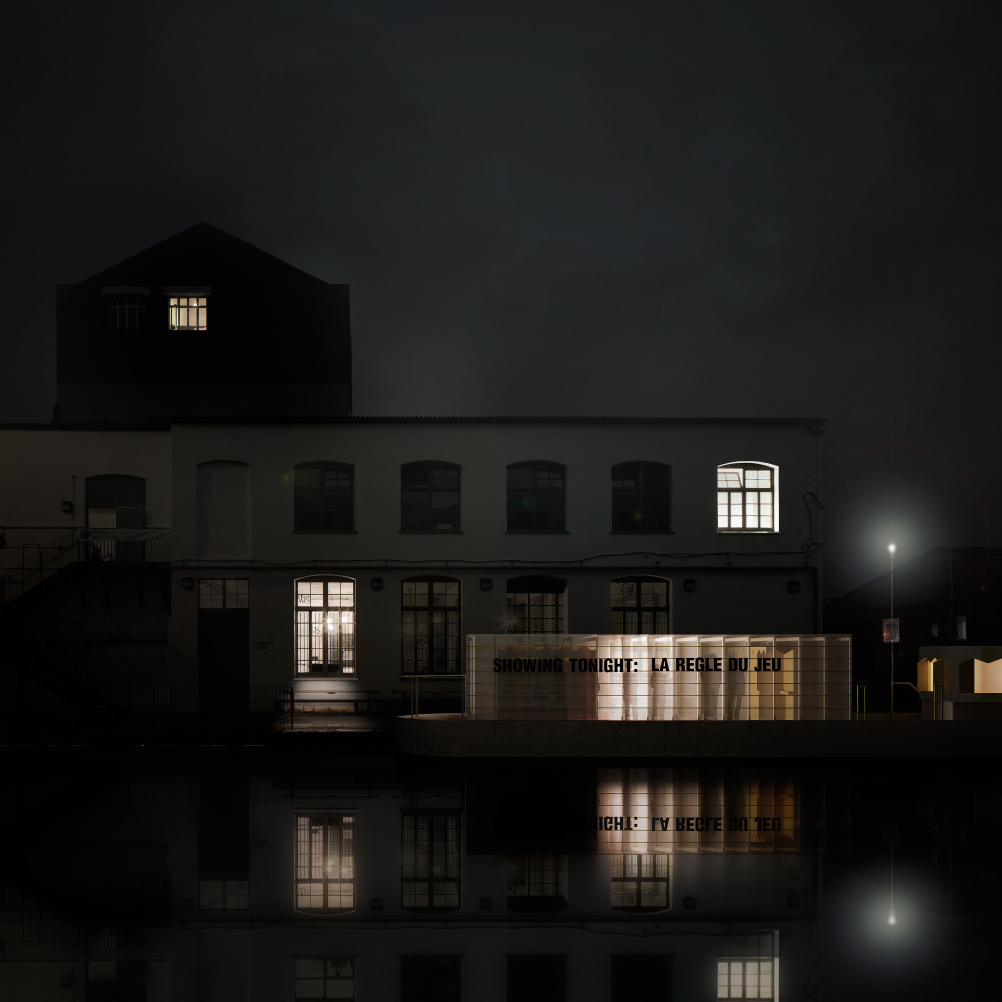 Floating Cinema outside white Building