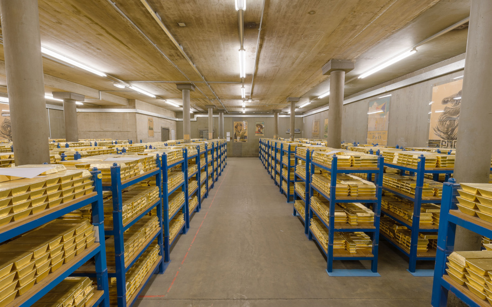The Bank of England's gold vaults