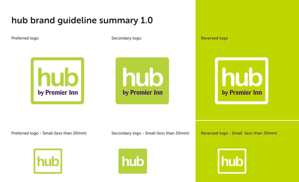Taken from Hub by Premier Inn guidelines