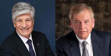 New Publicis Omnicom Group joint CEOs Maurice Lévy and John Wren