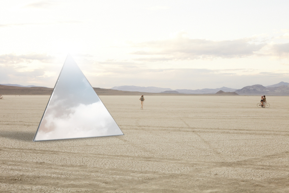 Luz - as it will later appear at Burning Man festival - by Les Mechants