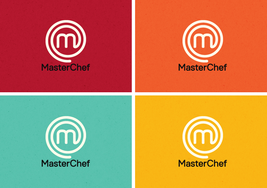 MasterChef logos in new bright colours