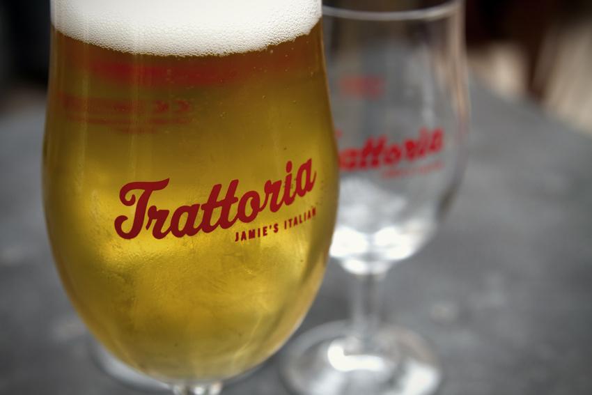 Trattoria Richond glassware.