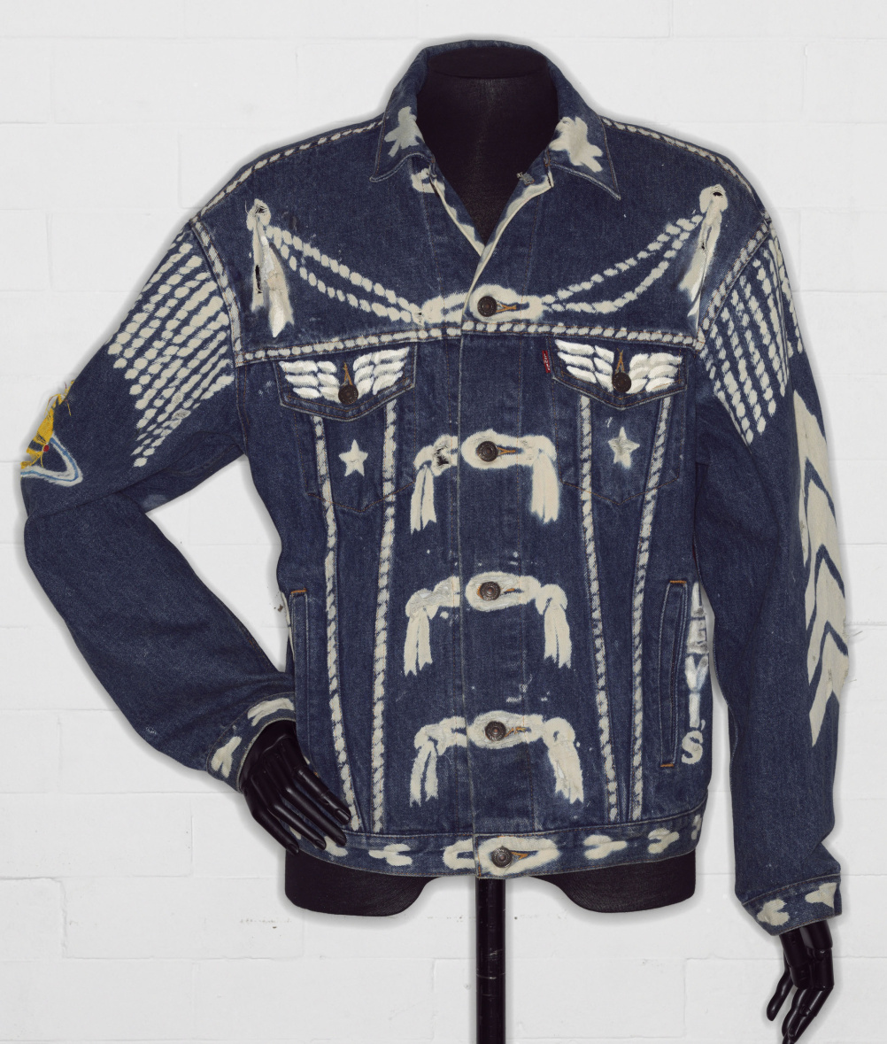 Denim jacket, 'BLITZ', by Levi Strauss and Co., customised by Vivienne Westwood 1986