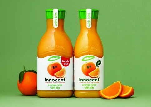 Innocent fruit juice packaging