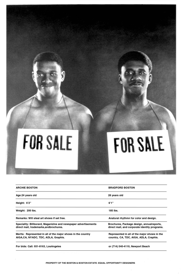 Self-promotional poster for Boston and Boston
