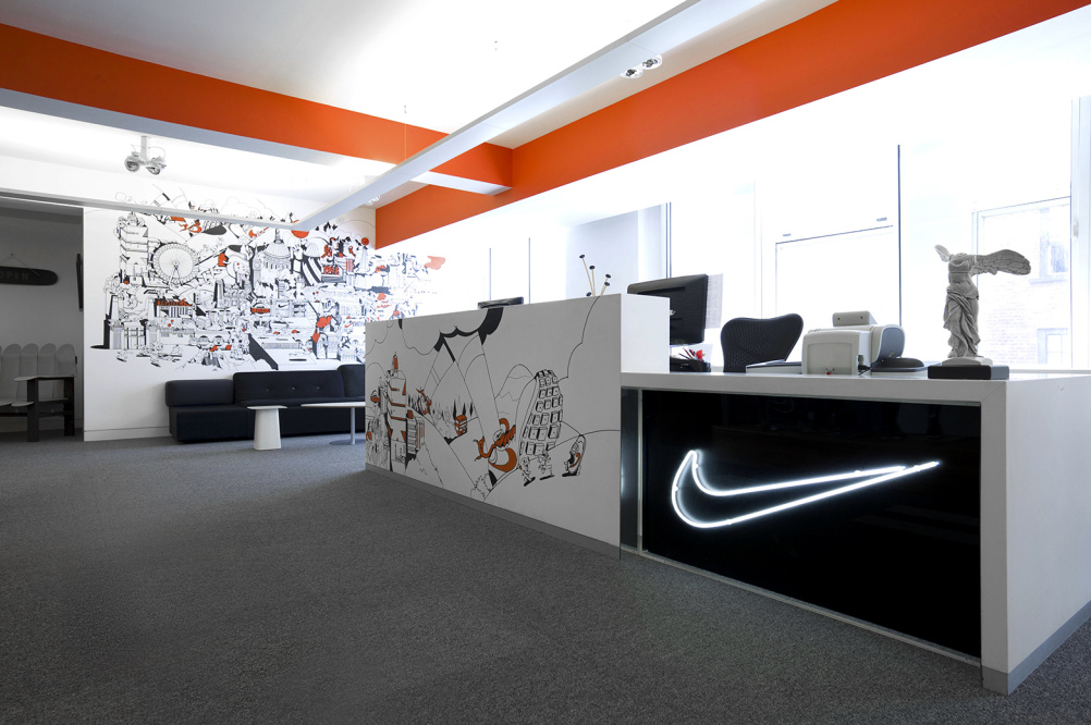 Nike London Office Reception Area